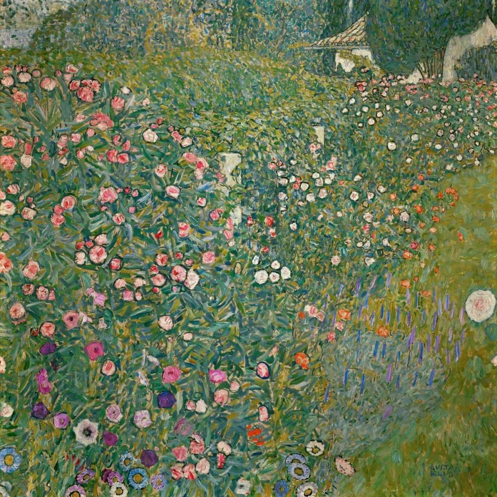 konfigurieren des Kunstdrucks in Wunschgröße Italian Garden Landscape von Klimt, Gustav