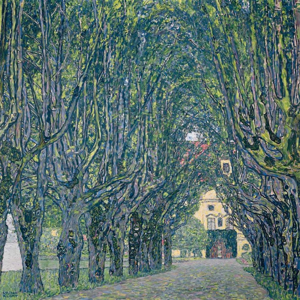 konfigurieren des Kunstdrucks in Wunschgröße Allee im Park von Schloss Kammer von Klimt, Gustav