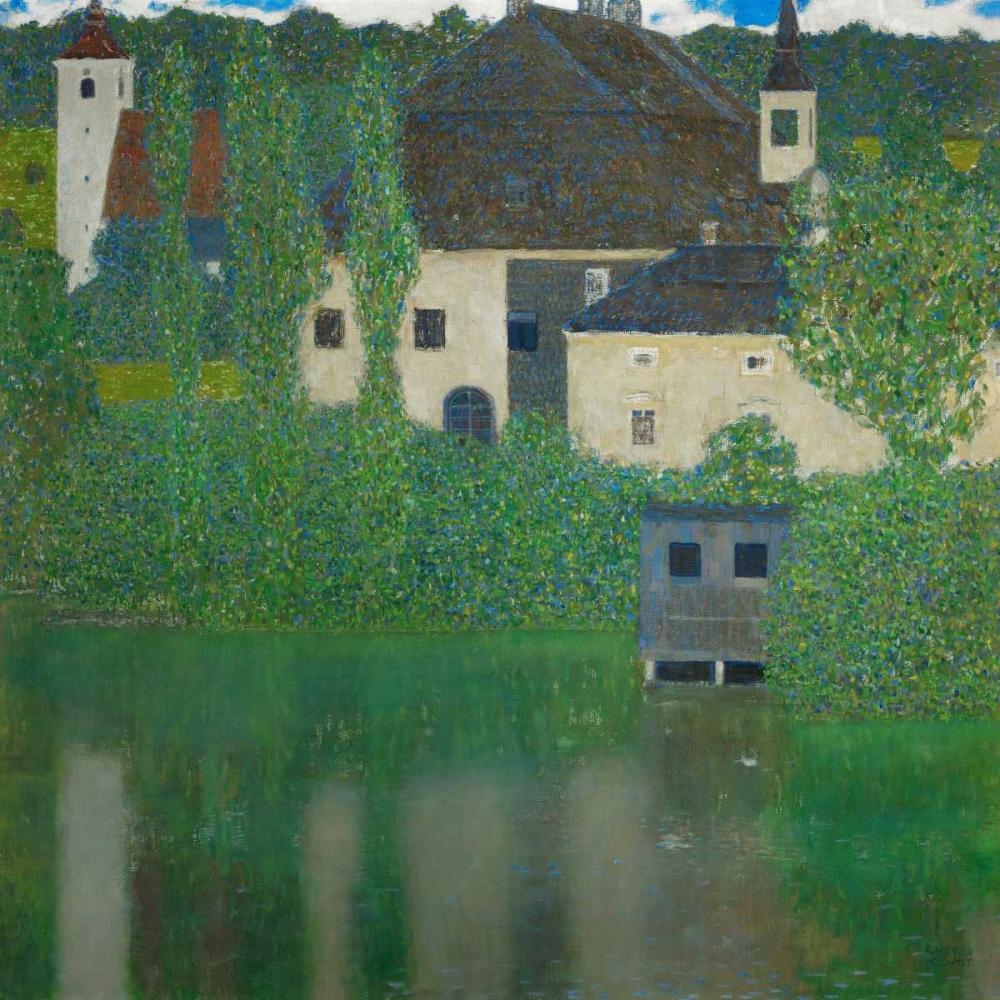 konfigurieren des Kunstdrucks in Wunschgröße Schloss Kammer am Attersee von Klimt, Gustav