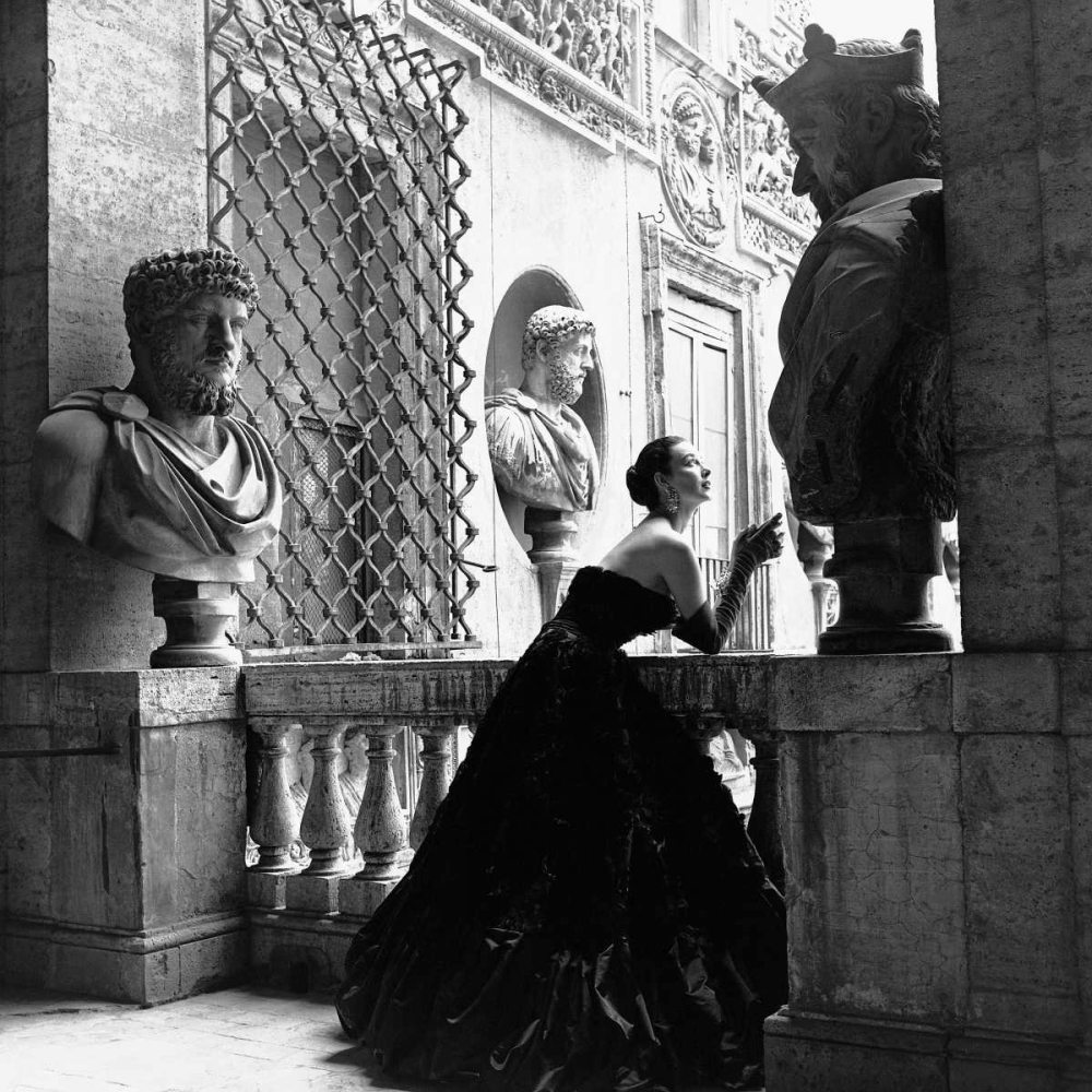 .,Figurative,Black & White,,,,1GN667,Evening Dress Roma 1952,Naylor, Genevieve,Square