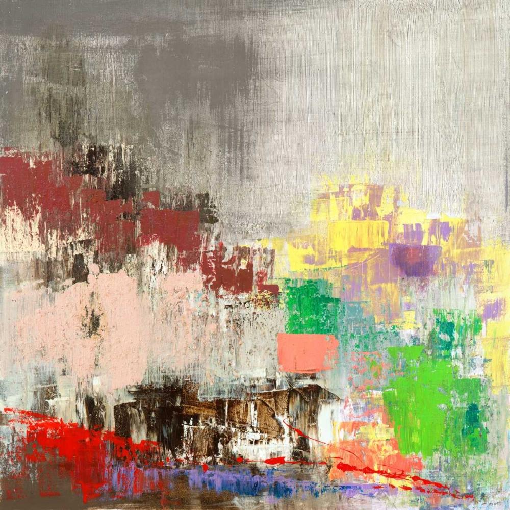 konfigurieren des Kunstdrucks in Wunschgröße Colored City von Corrado, Italo