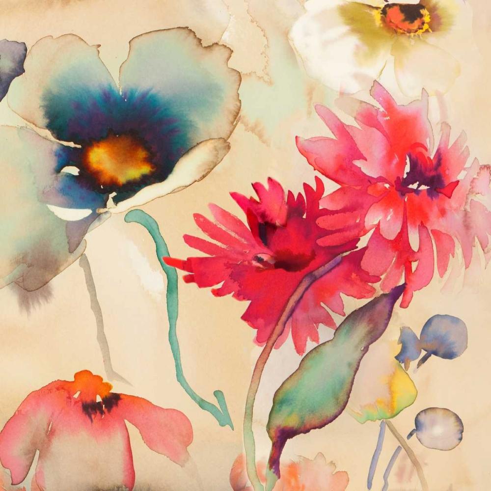 konfigurieren des Kunstdrucks in Wunschgröße Floral Fireworks II von Parr, Kelly