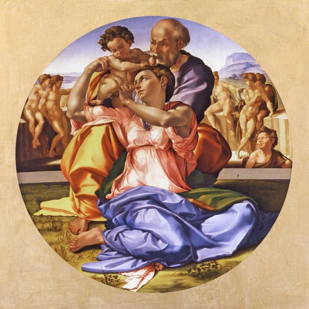konfigurieren des Kunstdrucks in Wunschgröße Tondo Doni von Buonarroti, Michelangelo