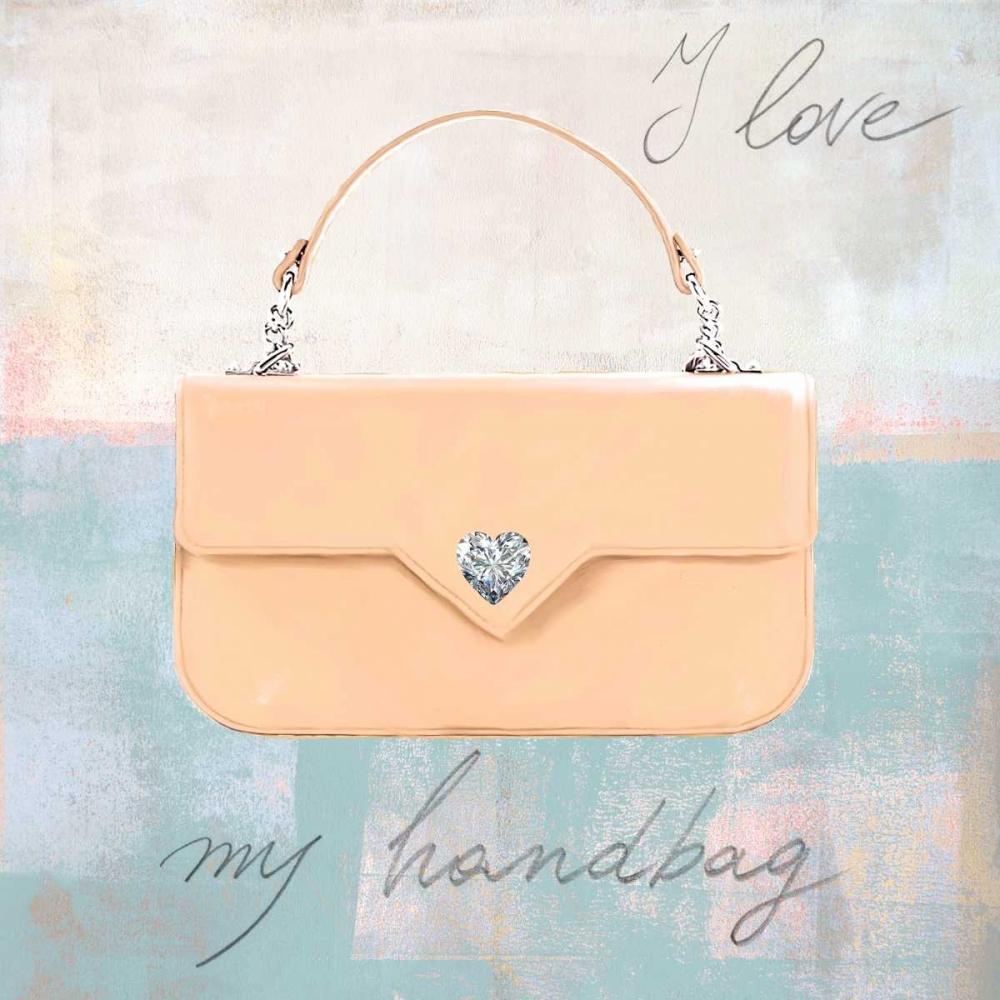 konfigurieren des Kunstdrucks in Wunschgröße I Love my Handbag von Clair, Michelle