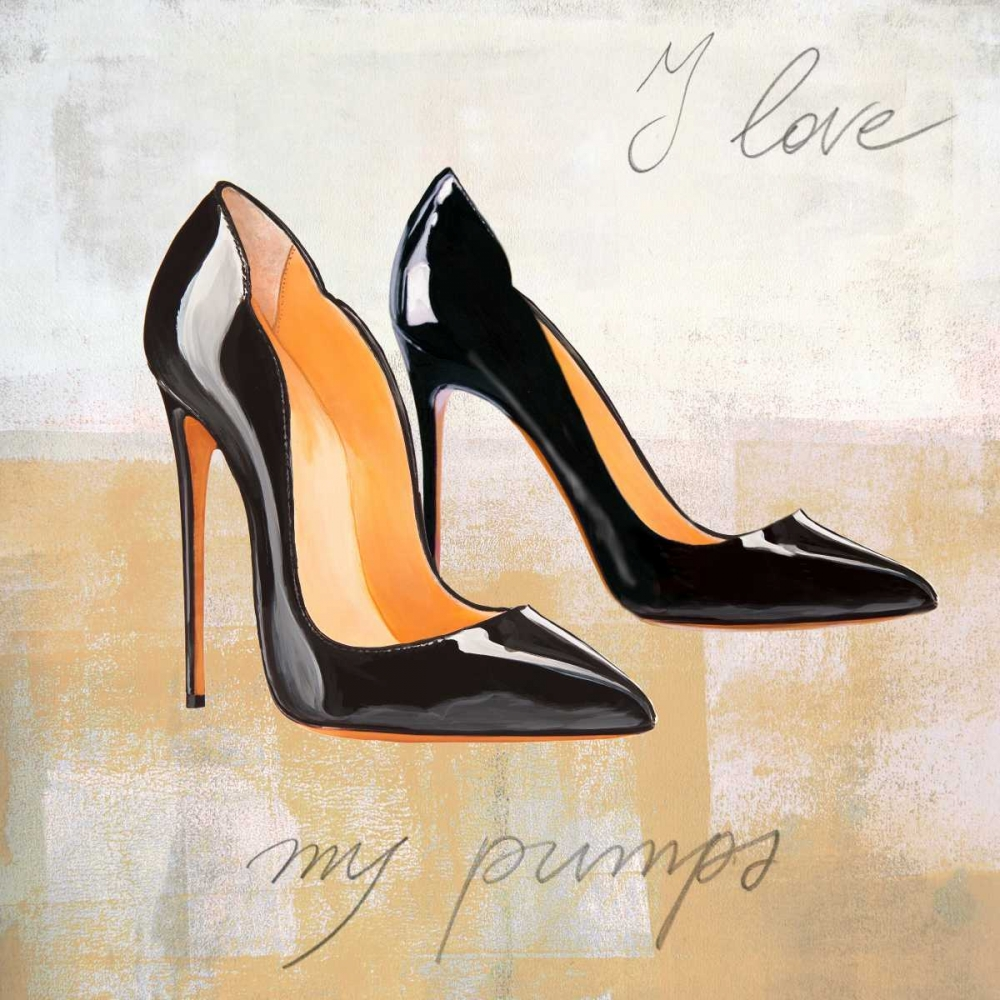 konfigurieren des Kunstdrucks in Wunschgröße I Love my Pumps von Clair, Michelle