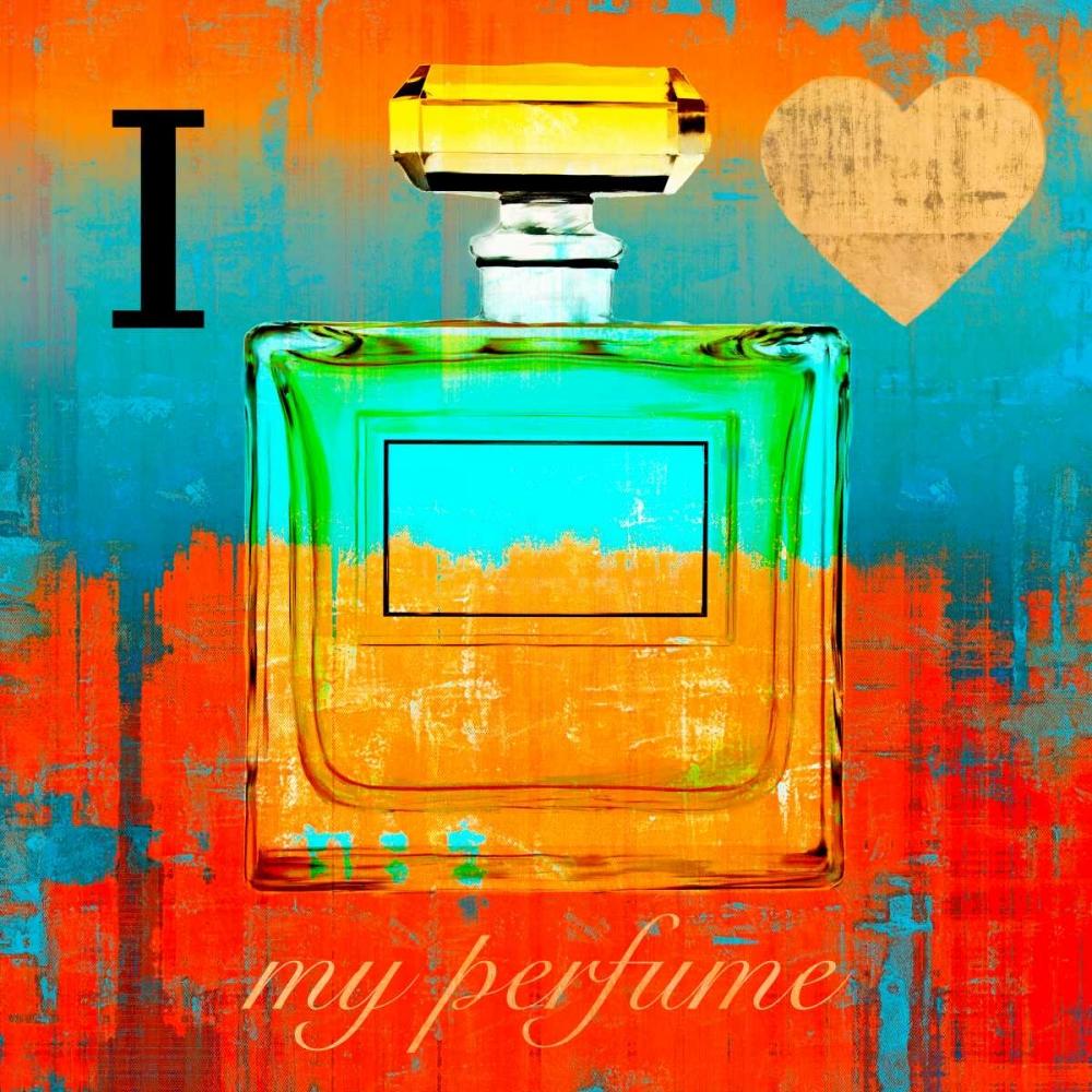 konfigurieren des Kunstdrucks in Wunschgröße I Love my Perfume von Clair, Michelle