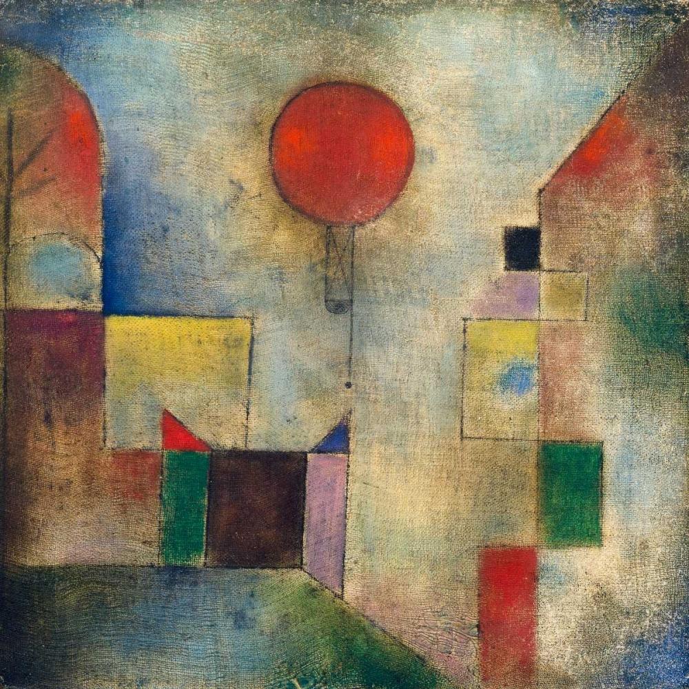 konfigurieren des Kunstdrucks in Wunschgröße Red balloon von Klee, Paul