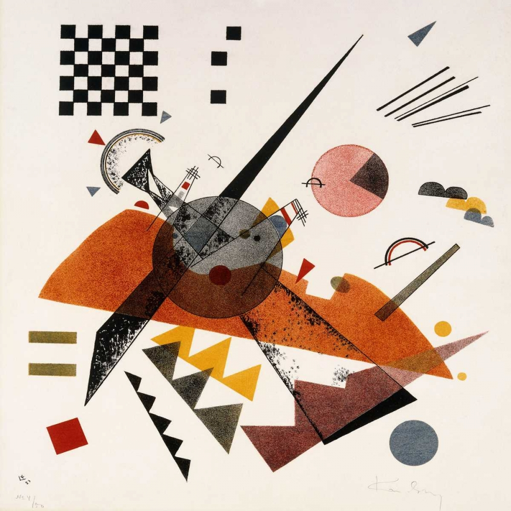 masters,Abstract,,,,,1WK2625,Orange,Kandinsky, Wassily,Square