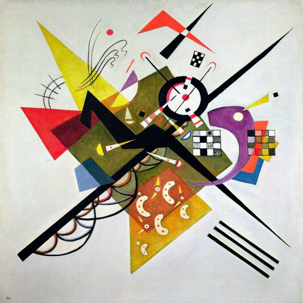 konfigurieren des Kunstdrucks in Wunschgröße On White II von Kandinsky, Wassily
