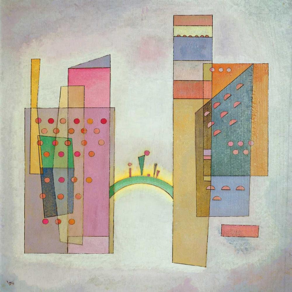 konfigurieren des Kunstdrucks in Wunschgröße The Bridge von Kandinsky, Wassily