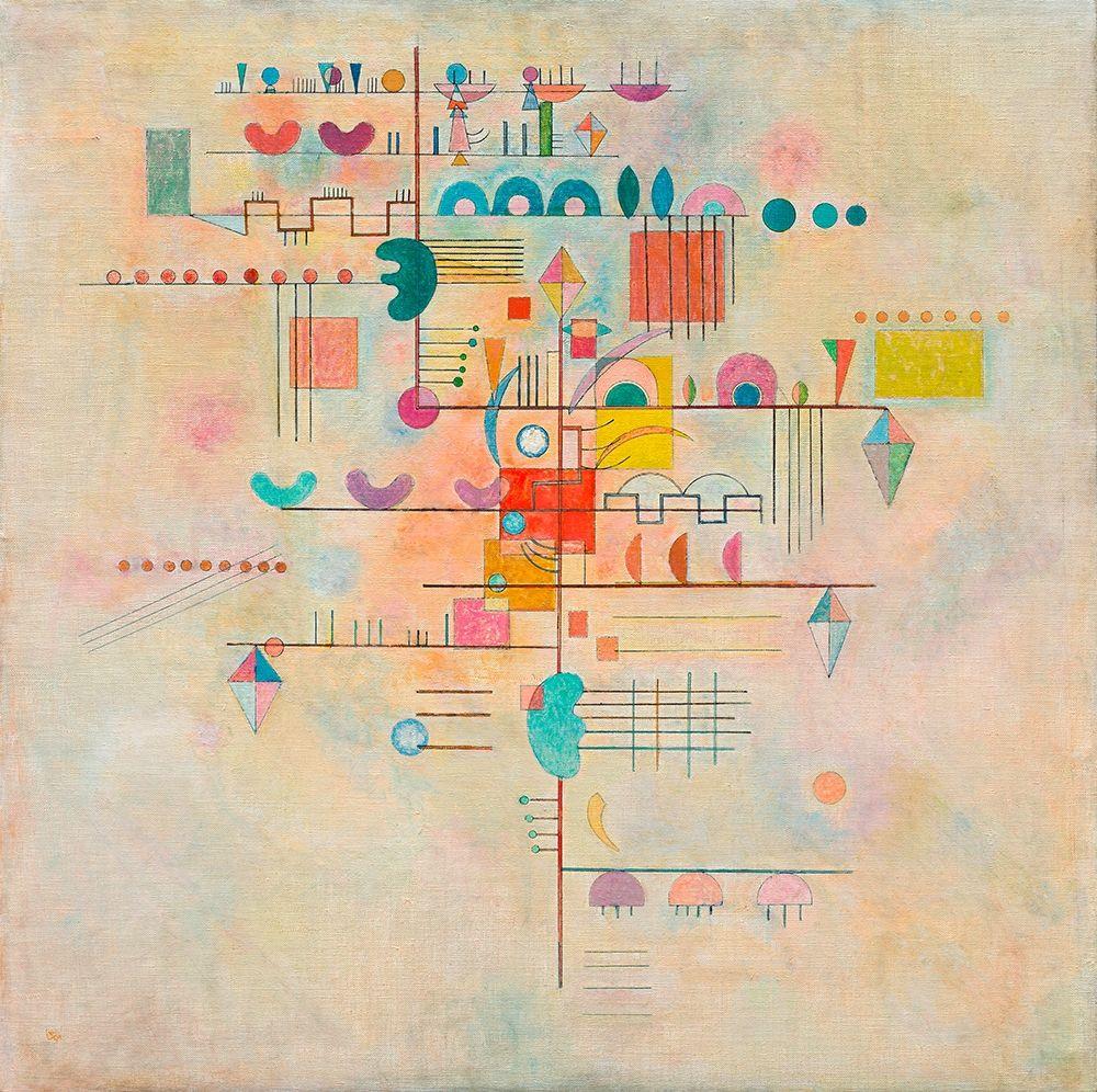 konfigurieren des Kunstdrucks in Wunschgröße Graceful Ascent von Kandinsky, Wassily
