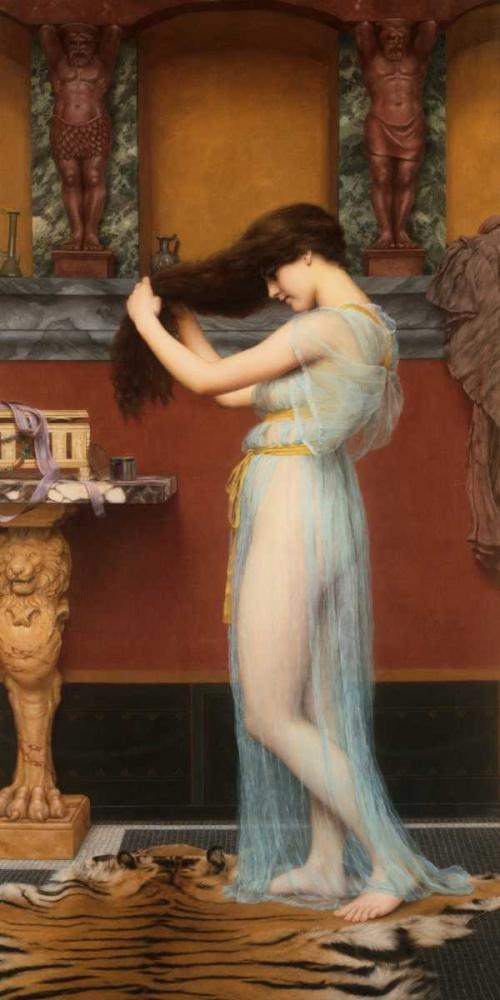 konfigurieren des Kunstdrucks in Wunschgröße The Toilet von Godward, John William