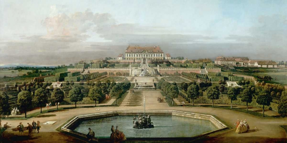 konfigurieren des Kunstdrucks in Wunschgröße Gardenview of the Kaisers Summer Palace von Bellotto, Bernardo