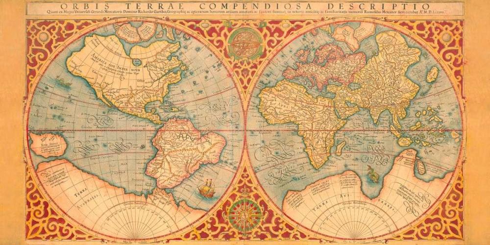 konfigurieren des Kunstdrucks in Wunschgröße Orbis Terrae Compendiosa Descriptio 1587 von Anonymous