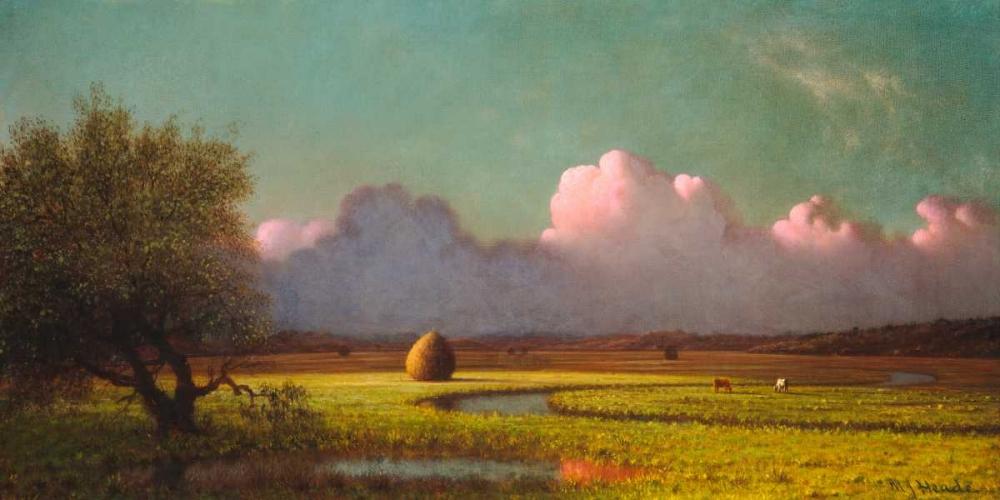 konfigurieren des Kunstdrucks in Wunschgröße Sunlight and Shadow: The Newbury Marshes von Heade, Martin Johnson