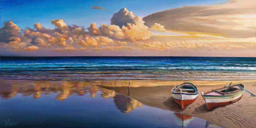 Barche sulla battigia von Galasso, Adriano <br> max. 191 x 94cm <br> Preis: ab 10€