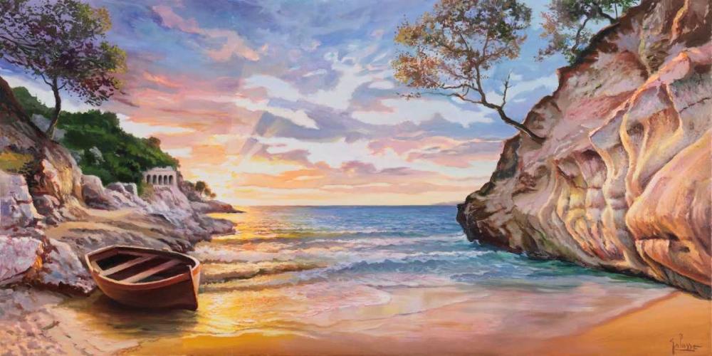Caletta al tramonto von Galasso, Adriano <br> max. 191 x 94cm <br> Preis: ab 10€