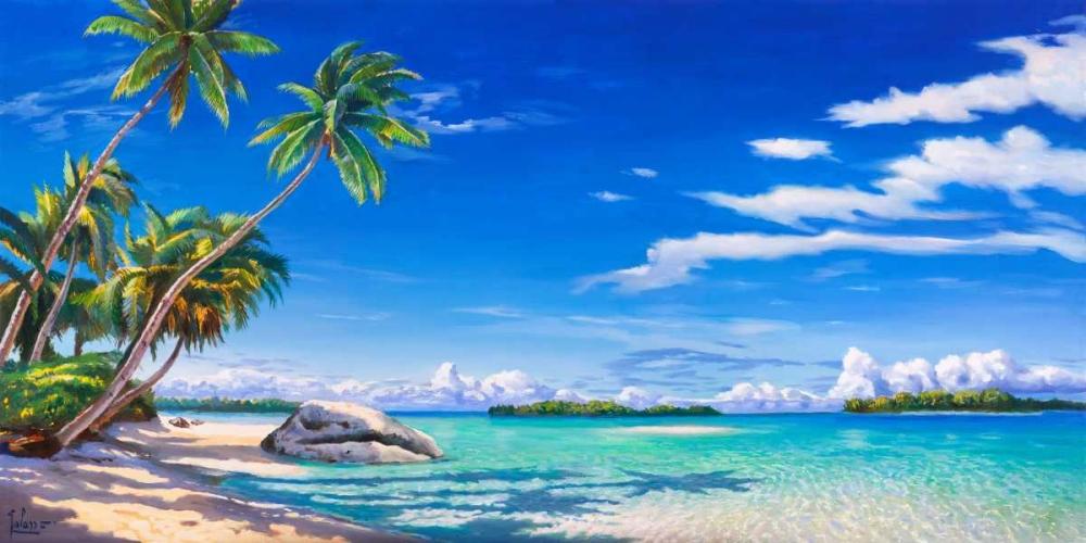 konfigurieren des Kunstdrucks in Wunschgröße Spiaggia tropicale von Galasso, Adriano