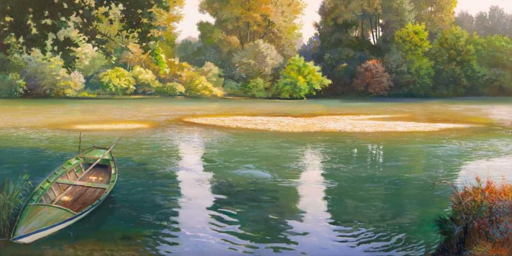 konfigurieren des Kunstdrucks in Wunschgröße Ansa sul fiume von Galasso, Adriano