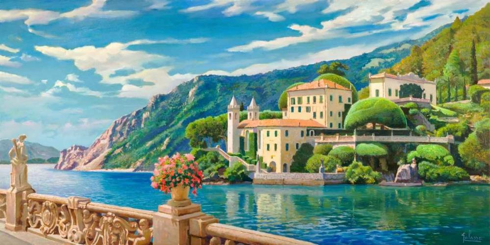 konfigurieren des Kunstdrucks in Wunschgröße Villa sul lago von Galasso, Adriano