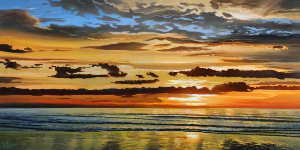 Alba sul mare von Galasso, Adriano <br> max. 191 x 94cm <br> Preis: ab 10€