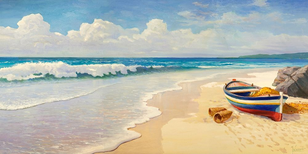 konfigurieren des Kunstdrucks in Wunschgröße Onde sulla spiaggia von Galasso, Adriano