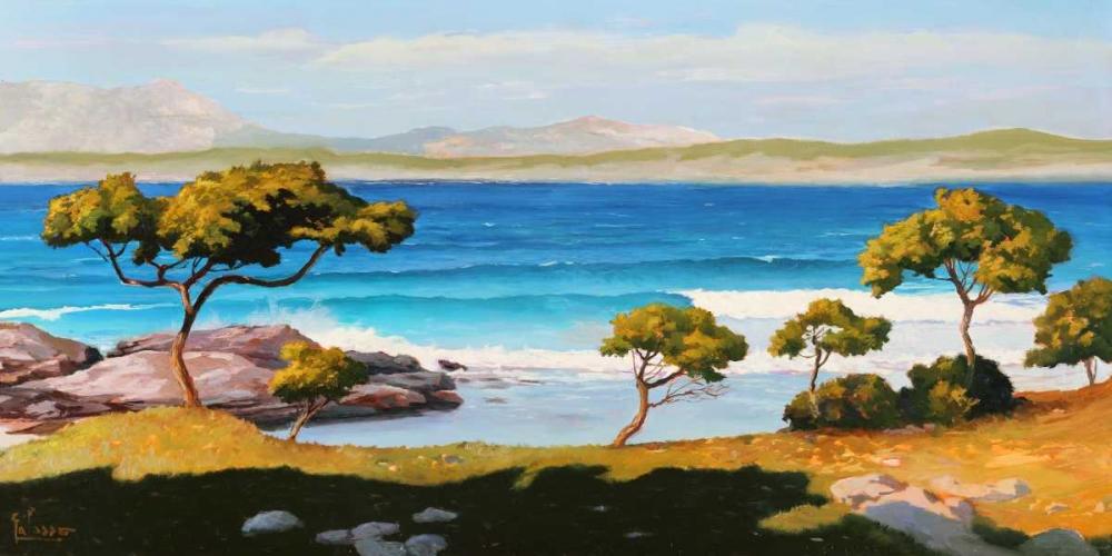 Spiaggia del Mediterraneo von Galasso, Adriano <br> max. 191 x 94cm <br> Preis: ab 10€