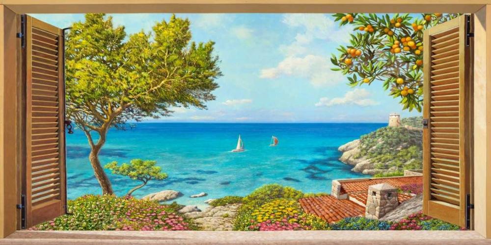 konfigurieren des Kunstdrucks in Wunschgröße Finestra sul mare von Del Missier, Andrea