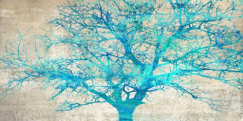 konfigurieren des Kunstdrucks in Wunschgröße Turquoise Tree von Aprile, Alessio