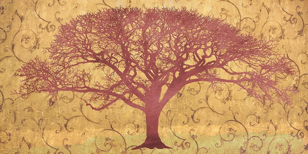 konfigurieren des Kunstdrucks in Wunschgröße Tree on a Gold Brocade von Aprile, Alessio