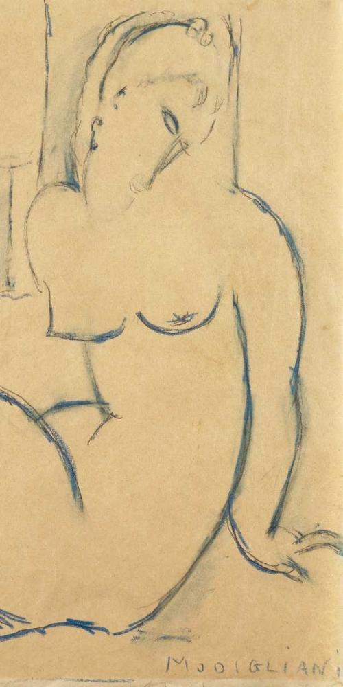 konfigurieren des Kunstdrucks in Wunschgröße Seated Woman von Modigliani, Amedeo