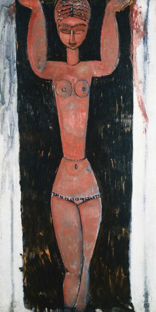 konfigurieren des Kunstdrucks in Wunschgröße Caryatid Rouge von Modigliani, Amedeo