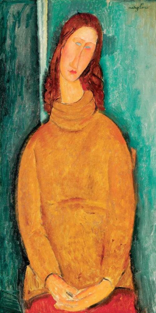 konfigurieren des Kunstdrucks in Wunschgröße Portrait of Jeanne He´buterne von Modigliani, Amedeo