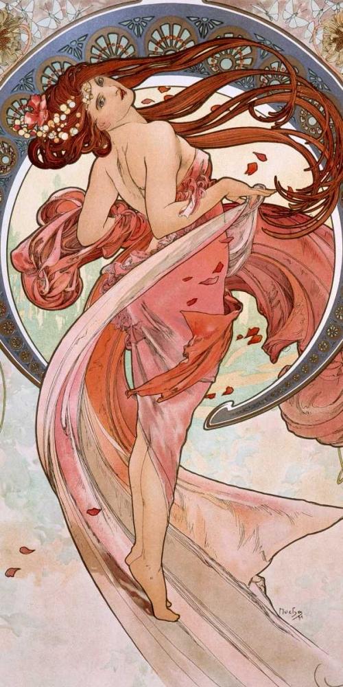 konfigurieren des Kunstdrucks in Wunschgröße La-danse von Mucha, Alphonse