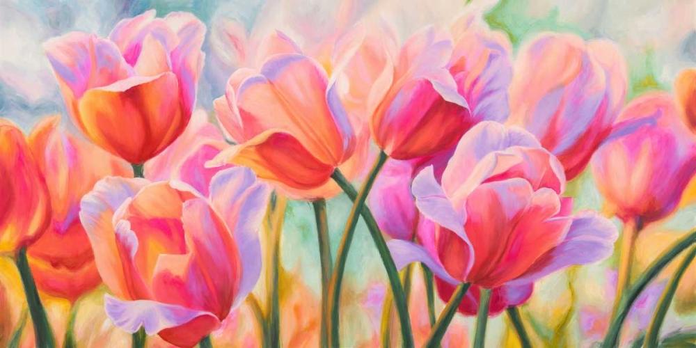 konfigurieren des Kunstdrucks in Wunschgröße Tulips in Wonderland von Ann, Cynthia