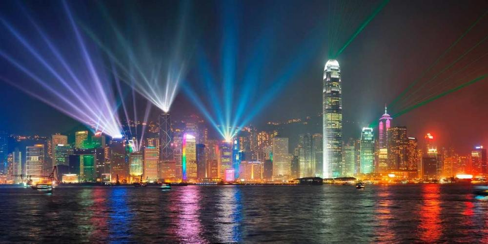 konfigurieren des Kunstdrucks in Wunschgröße Symphony of lights, Hong Kong von Anonymous