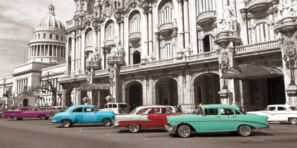 konfigurieren des Kunstdrucks in Wunschgröße Vintage American cars in Havana, Cuba von Anonymous