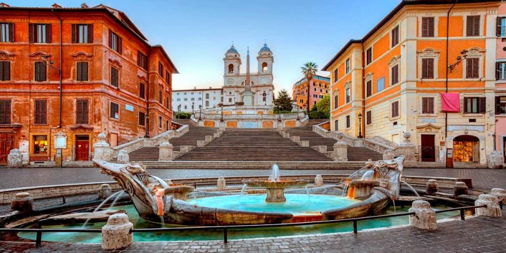konfigurieren des Kunstdrucks in Wunschgröße Piazza di Spagna, Roma von Anonymous