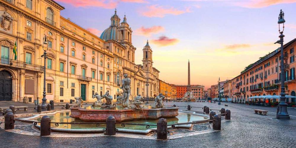 konfigurieren des Kunstdrucks in Wunschgröße Piazza Navona, Roma von Anonymous