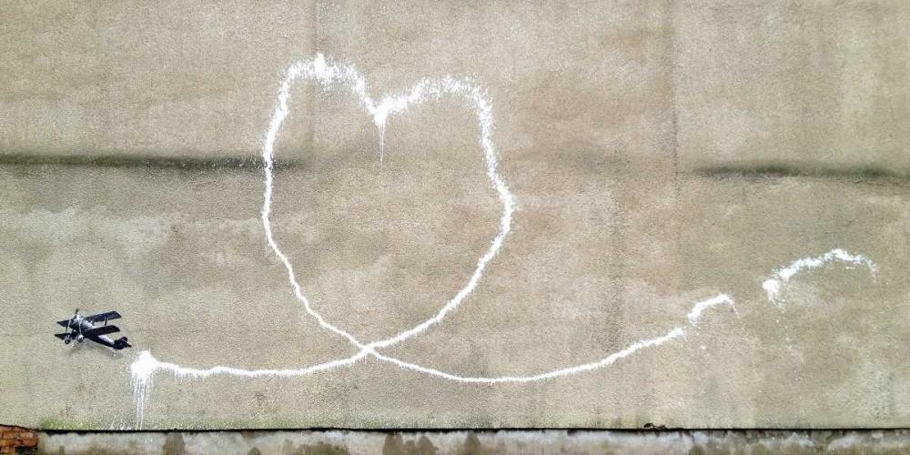 konfigurieren des Kunstdrucks in Wunschgröße Rumford Street|Liverpool (graffiti attributed to Banksy) von Anonymous