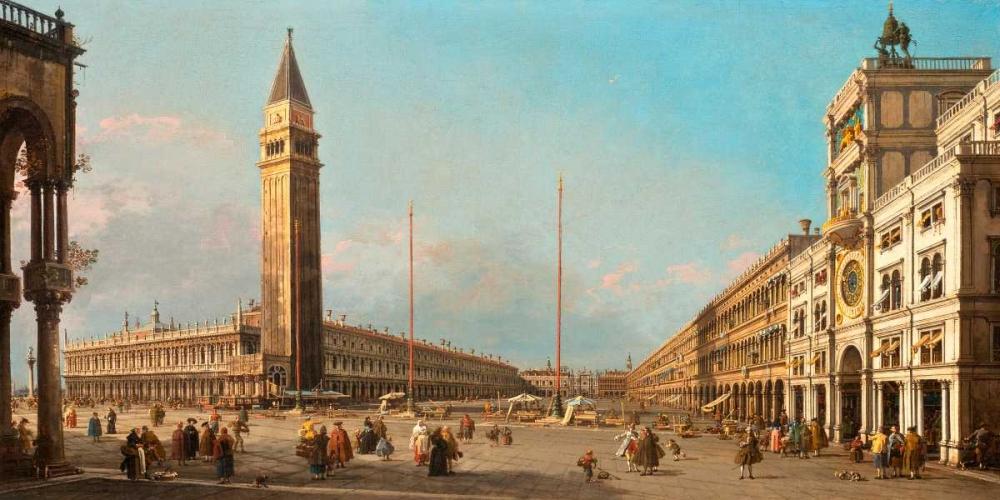 konfigurieren des Kunstdrucks in Wunschgröße Piazza San Marco Looking South and West von Canaletto