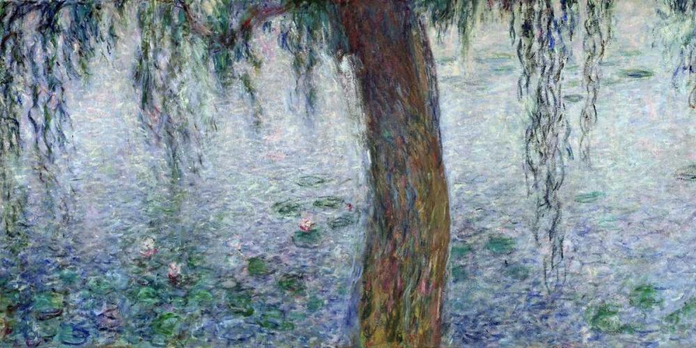 konfigurieren des Kunstdrucks in Wunschgröße Morning with Weeping Willows I (detail) von Monet, Claude