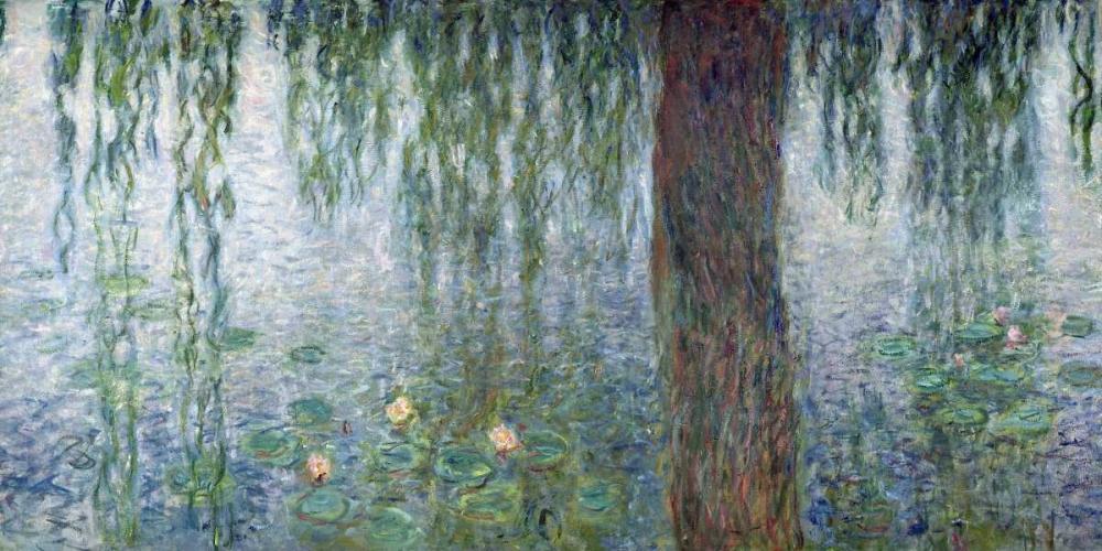 konfigurieren des Kunstdrucks in Wunschgröße Morning with Weeping Willows II (detail) von Monet, Claude