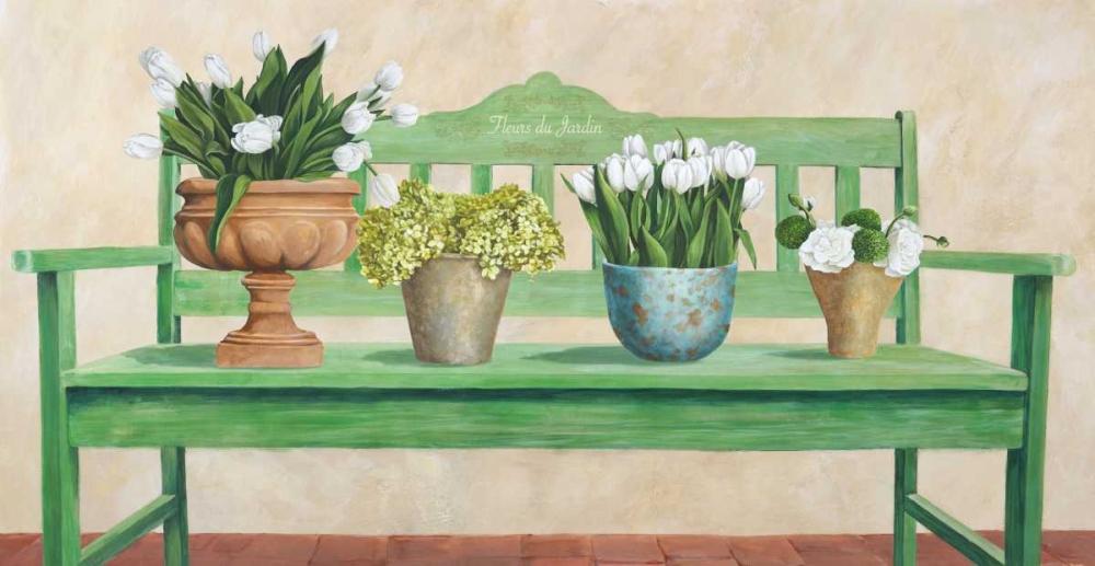 konfigurieren des Kunstdrucks in Wunschgröße Jardin Francais von Dellal, Remy