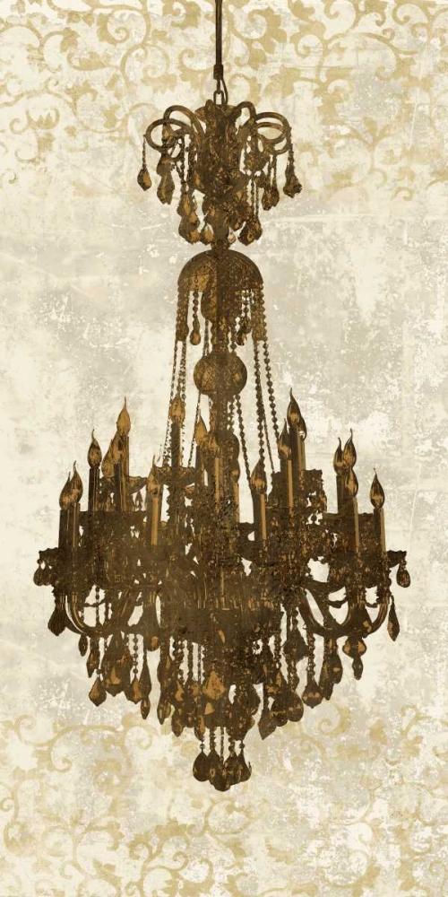 konfigurieren des Kunstdrucks in Wunschgröße Panneau Chandelier II von Dellal, Remy