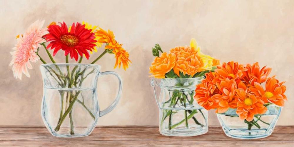 Fleurs et Vases Jaune von Dellal, Remy <br> max. 213 x 107cm <br> Preis: ab 10€