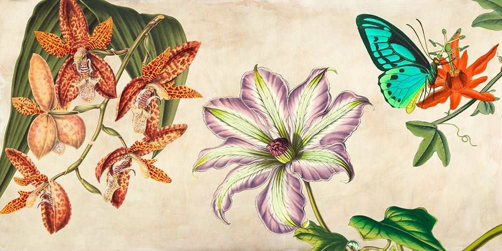konfigurieren des Kunstdrucks in Wunschgröße Panneau Botanique I von Dellal, Remy