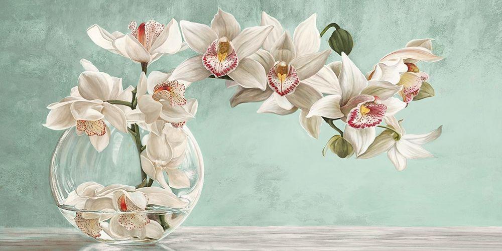 konfigurieren des Kunstdrucks in Wunschgröße Orchid Arrangement II (Celadon) von Dellal, Remy