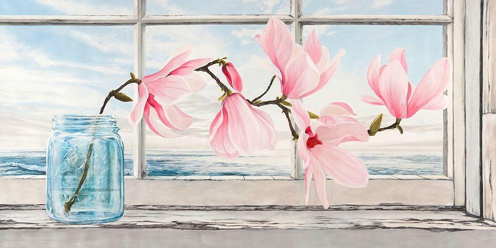 konfigurieren des Kunstdrucks in Wunschgröße Magnolia von Dellal, Remy