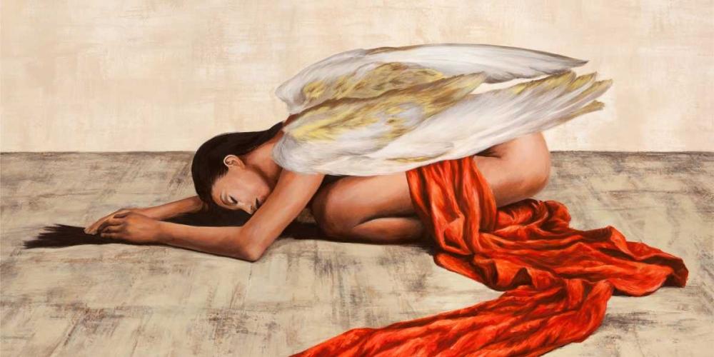 konfigurieren des Kunstdrucks in Wunschgröße Reclined Angel (detail) von Duval, Sonya
